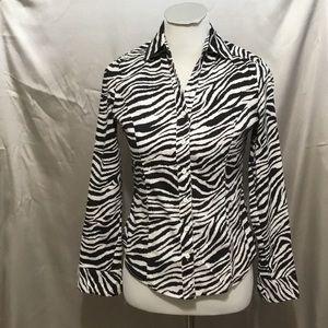 Metrostyle Zebra Print Blouse